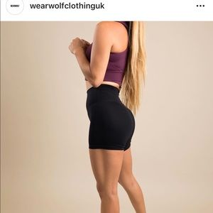 Pants - Wear wolf clothing , black and gray spandex shorts